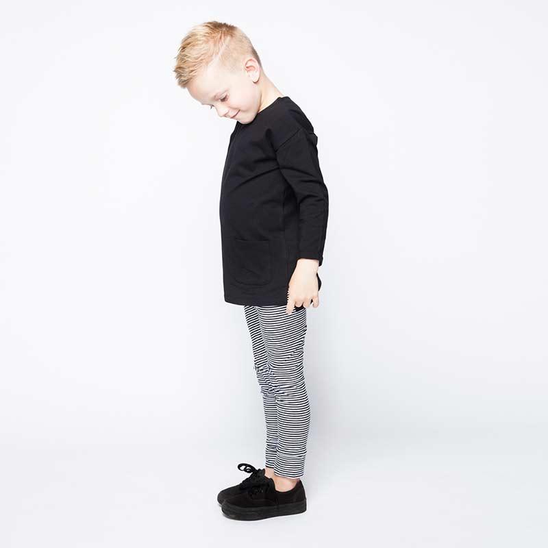 Leggings black and white stripes from Mingo