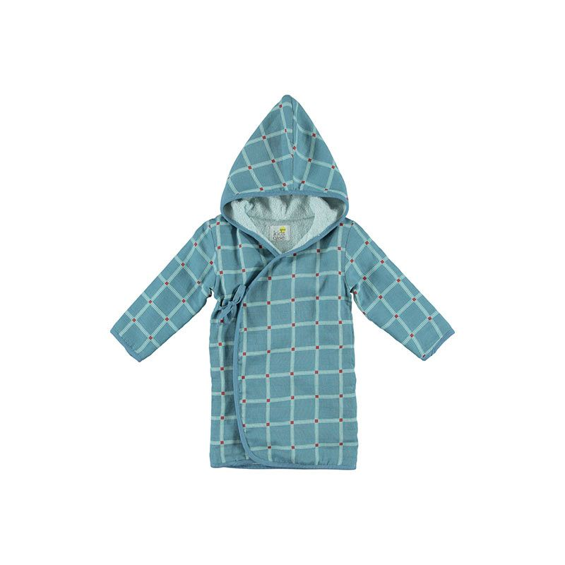 Kidscase-Home-bathrobe-check-blue-citzzy-kids-concept-store