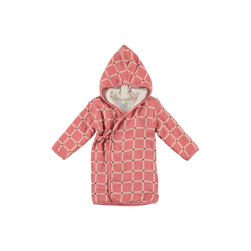 Kidscase-Home-bathrobe-check-soft-red-citzzy-kids-concept-store