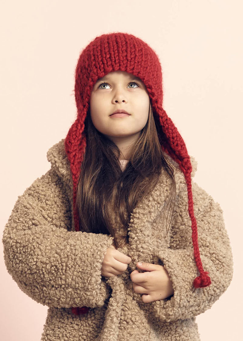 Red hood beanie from Kids on the Moon