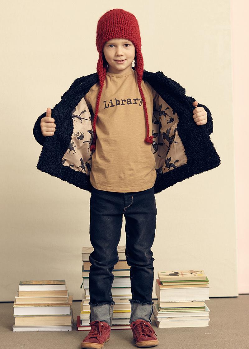 Library ocher longsleeve t-shirt from Kids on the Moon