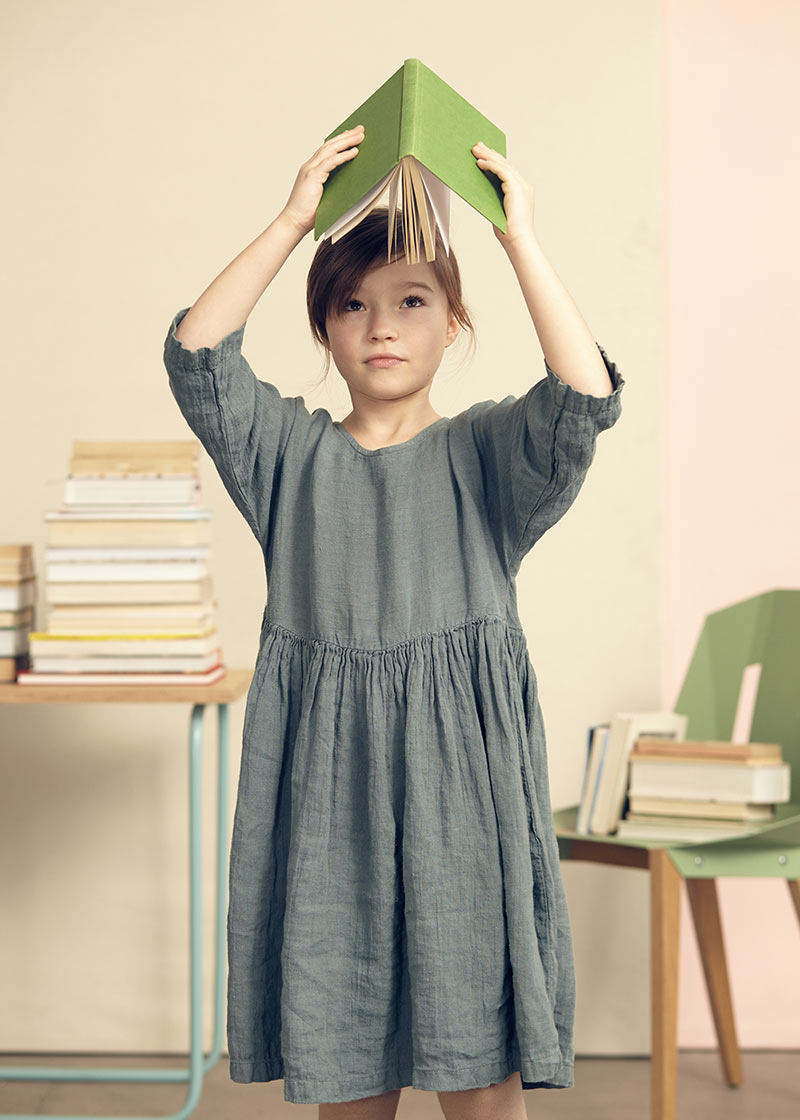 Ophelia mint dress from Kids on the Moon