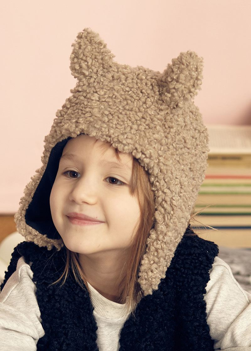 Faun faux fur cap beige from Kids on the Moon Kids on the Moon