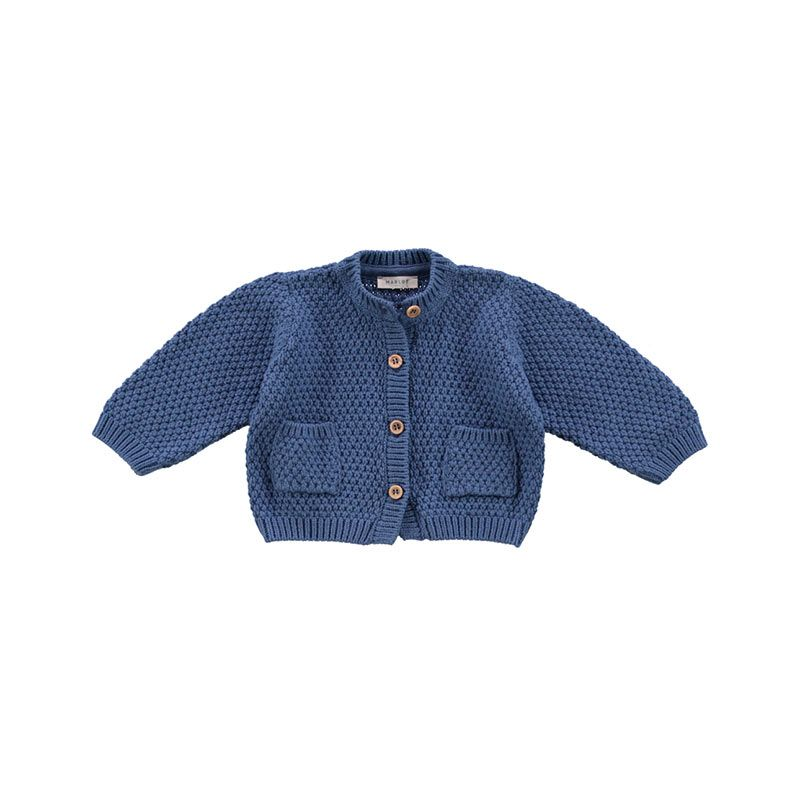 Cardigan-knit-blue-saphir-citzzy-kids-concept-store
