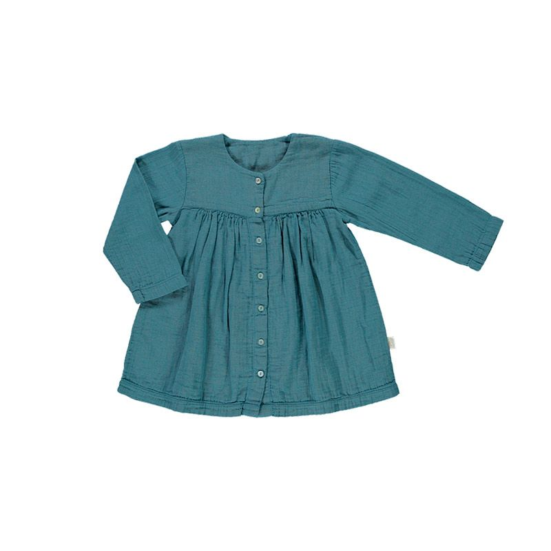Poudre-organic-dress-buttons-Caminha-blue-hydro-citzzy-kids-concept-store