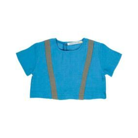 Baby top blue from Carlota Barnabe