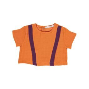 Baby top orange from Carlota Barnabe