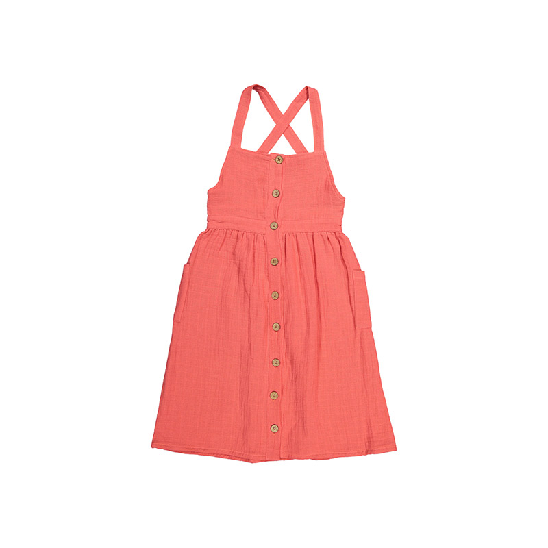 Dress coral from Carlota Barnabe