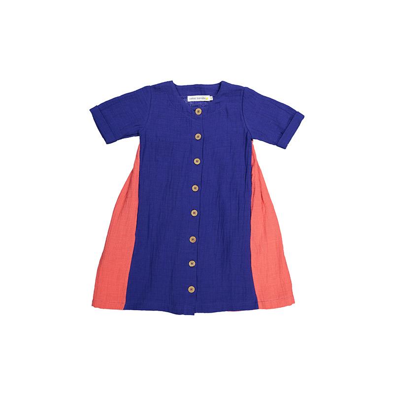 Dress indigo coral from Carlota Barnabe