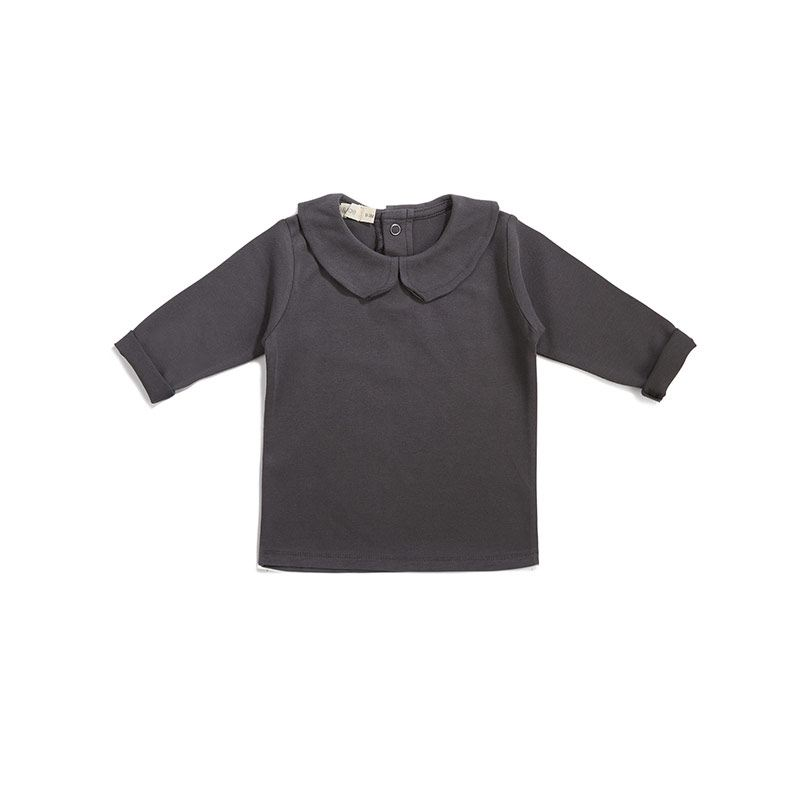 Baby collar tee graphite from Phil&phae