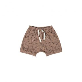 Shorts marrones con anclas de Rylee and Cru