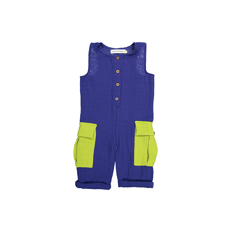 Jumpsuit indigo lime from Carlota Barnabe