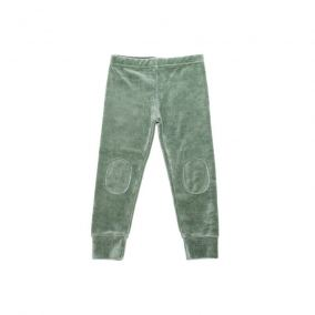 Leggings velvet duck green from Mingo