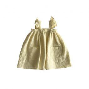 """Vestido """"Cara"""" amarillo pálido de Liilu"""
