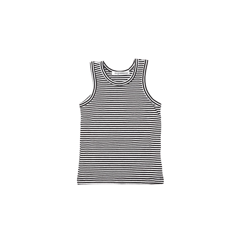 Singlet black and white stripes from Mingo