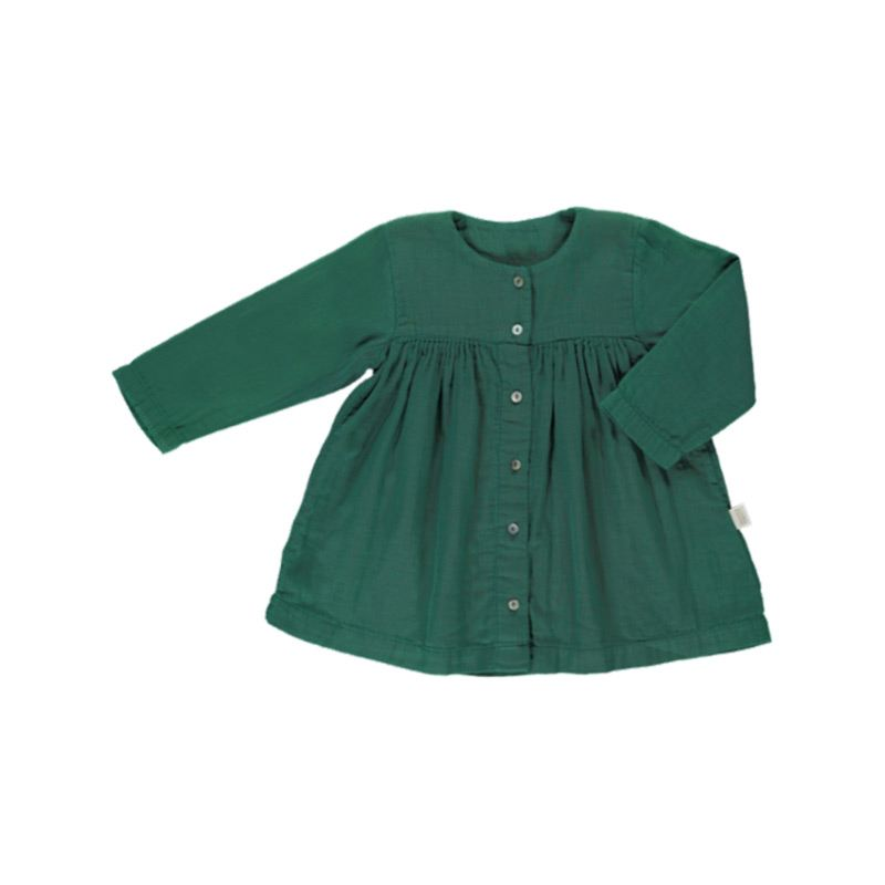 Aubepine dress bistrot green from Poudre Organic