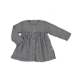 Aubepine dress gingham from Poudre Organic