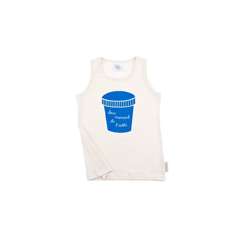 Big Ice Cream Pot tank white from Tinycottons