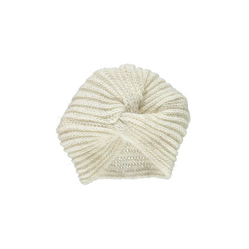 Wool cap turban pivoine from Poudre Organic