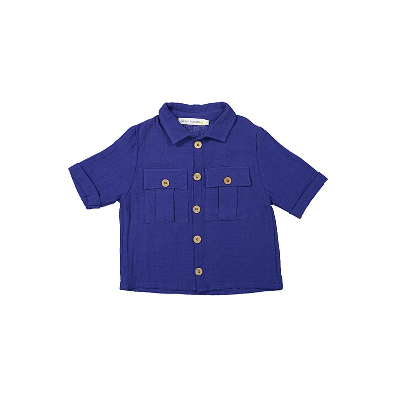Shirt boy indigo from Carlota Barnabe