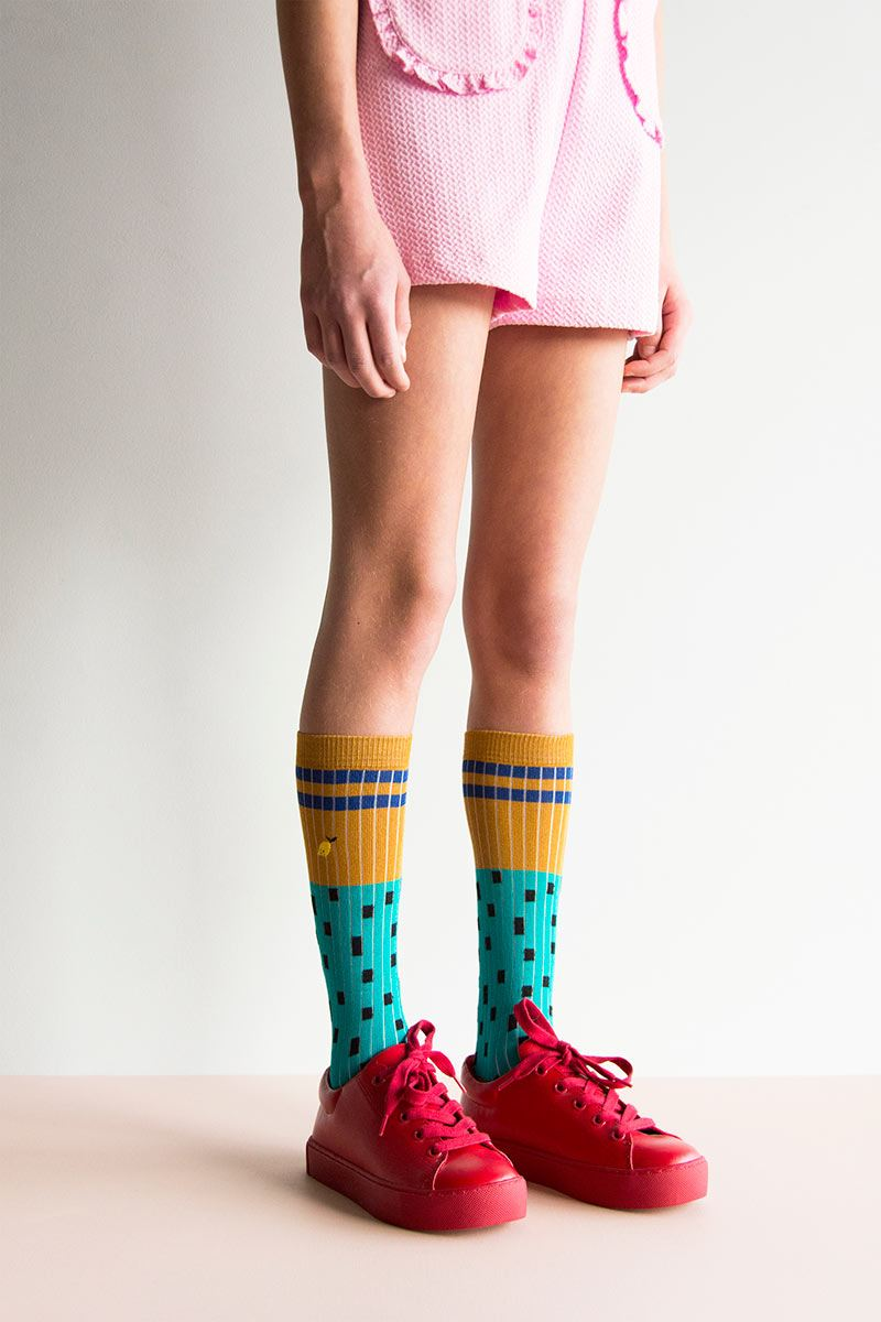 Retro mint knee socks from Sticky Lemon