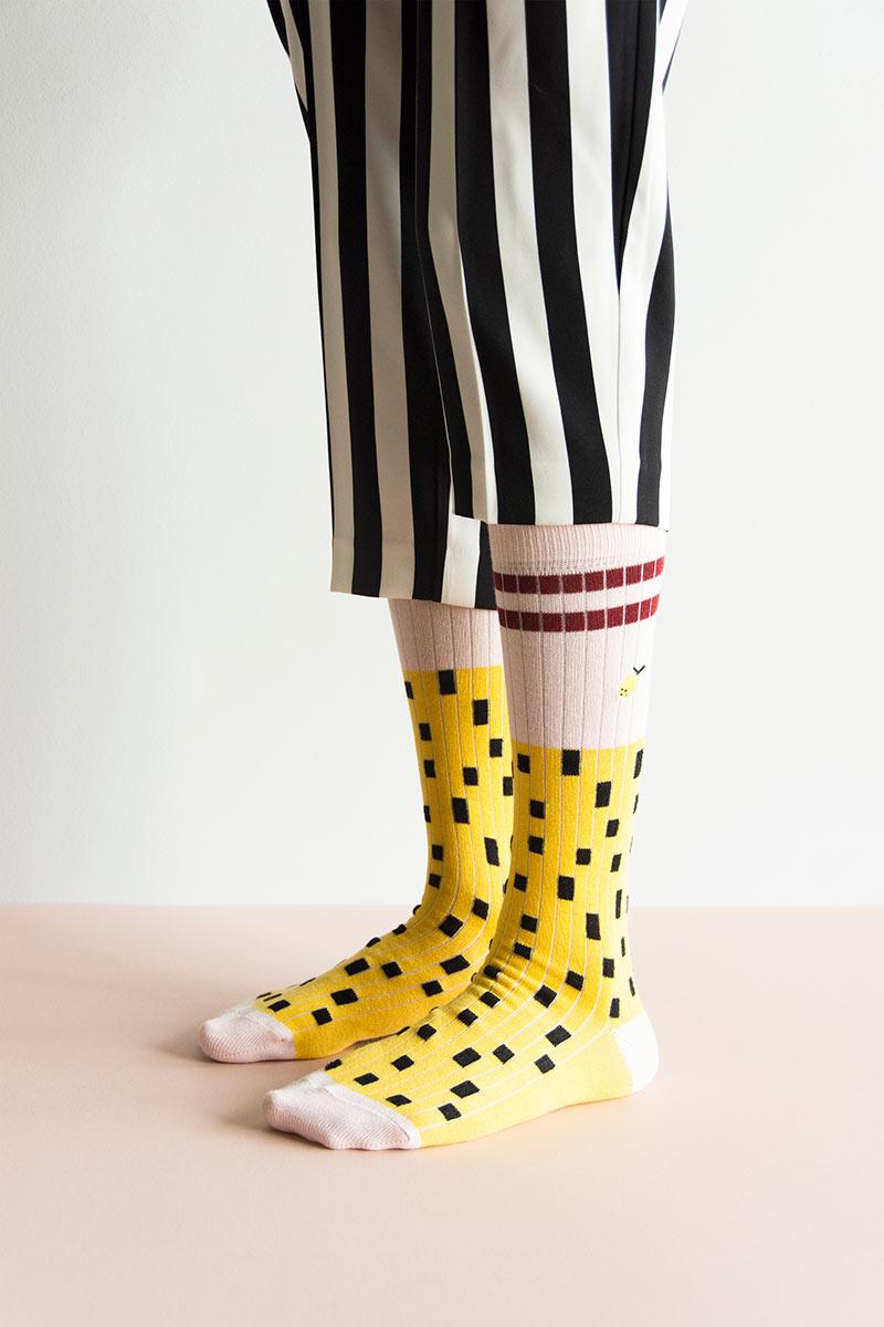 Yellow knee socks from Sticky Lemon