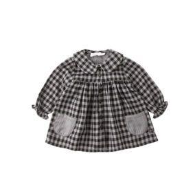 vestido-cuadros-negro-gris-tocoto-vintage-citzzy-kids-concept-store