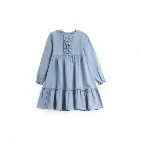 Ruffles dress blue from Tocoto Vintage