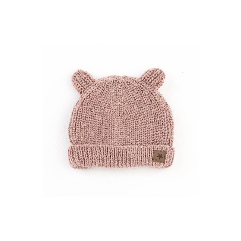Knitted bear cap pink from Tocoto Vintage