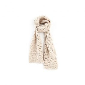 Lockstitch scarf beige from Tocoto Vintage