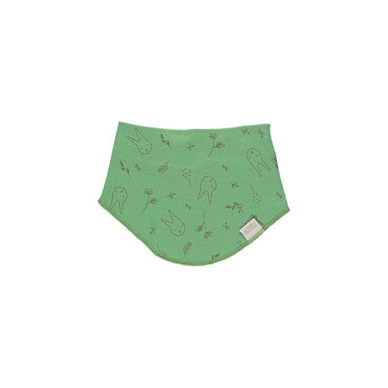 Bandana verde estampada de Poudre Organic