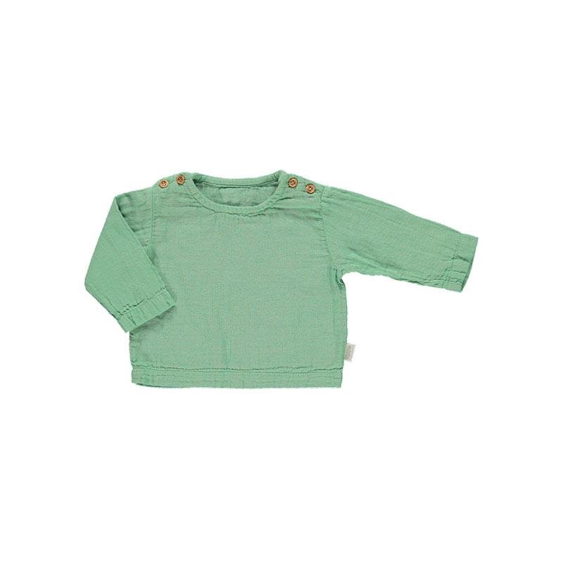 Blusa Hublon verde de Poudre Organic