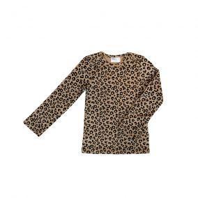 Brown leopard longsleeve shirt from Maed for Mini