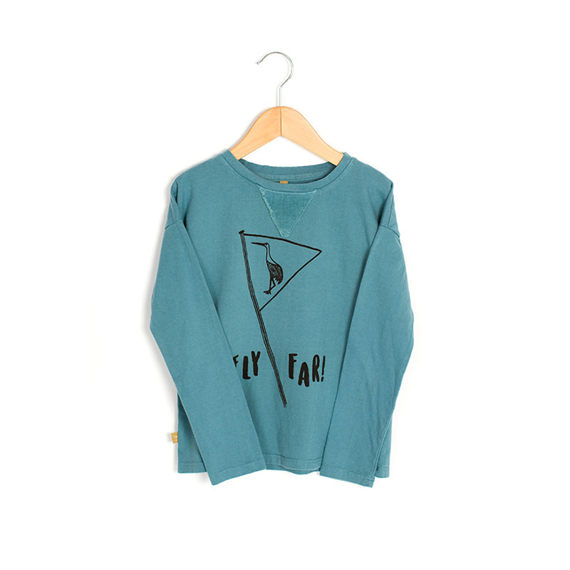 Camiseta fly far azul de Lotiekids