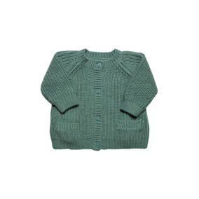 Petite-collection-Rib-cargigan-sea-green-citzzy-kids-concept-store