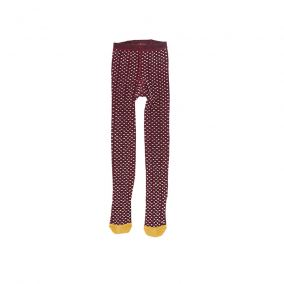 Hairy tights plum from Tinycottons