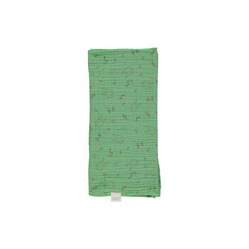 Pañuelo muselina verde de Poudre Organic