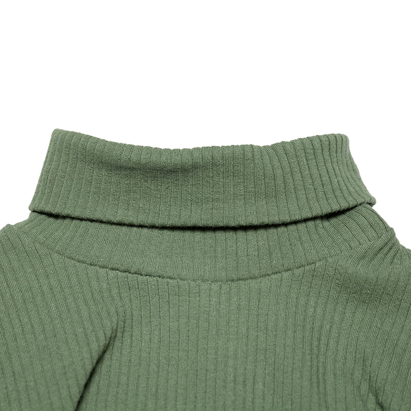 Rib turtle neck duck green from Mingo