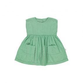 Vestido Hibiscus verde de Poudre Organic