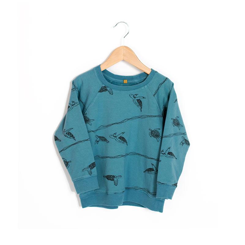Sudadera tortugas azul de Lotiekids