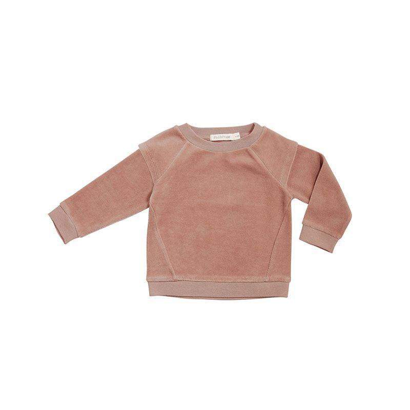 Sweater velvet dusty blush from Phil&phae