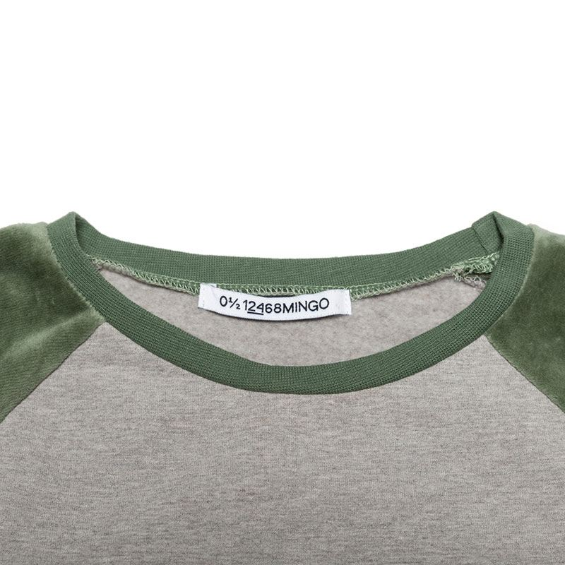 Sweater velvet duck green from Mingo