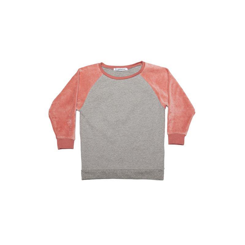 Sweater velvet raspberry from Mingo