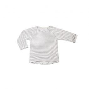 Raglan tee stripe vanilla from Phil&phae