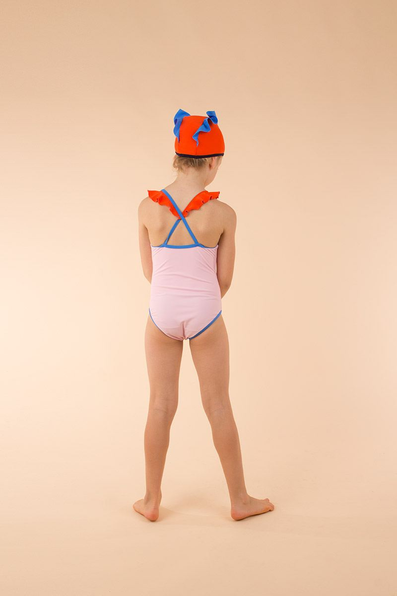 Color block frills swimsuit from Tinycottons